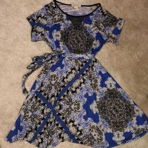 Studio West Blue Paisley Dress